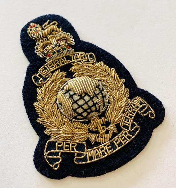 Royal Marines Cap Badge, cap, badge, Cap, Cap Badge, Blazer Badge, Vintage badge, military, military badge, military button