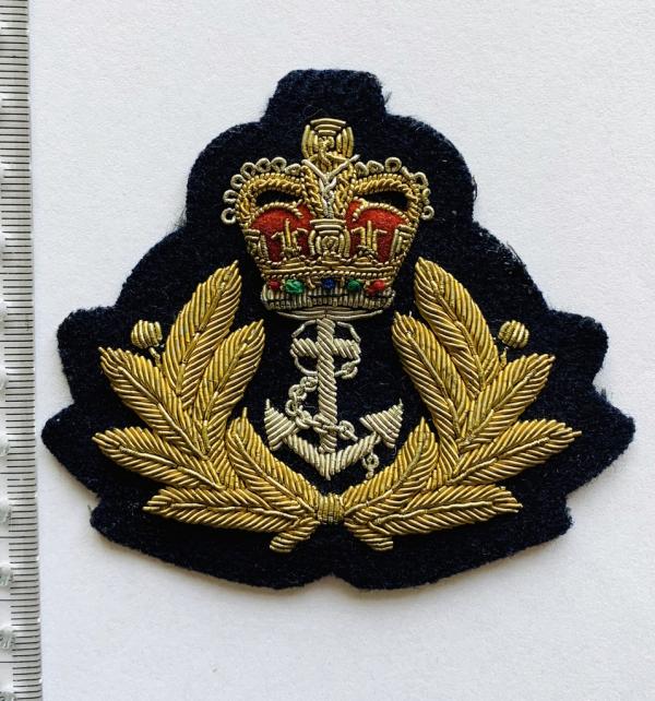 Royal Navy Warrant Officer Blazer Badge, Blazer, Blazer Badge, Cap Badge,Blazer, badge, Cap, Cap Badge, Blazer Badge, Vintage badge, military, military badge, military button