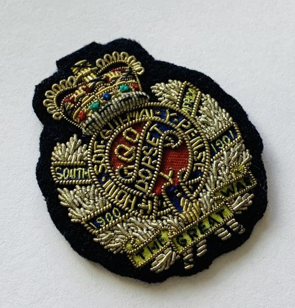 The Dorset Regiment Cap Badge, Cap, Gold, Gold Badge, Cap Badge,Blazer, badge, Cap, Cap Badge, Blazer Badge, Vintage badge, military, military badge, military button