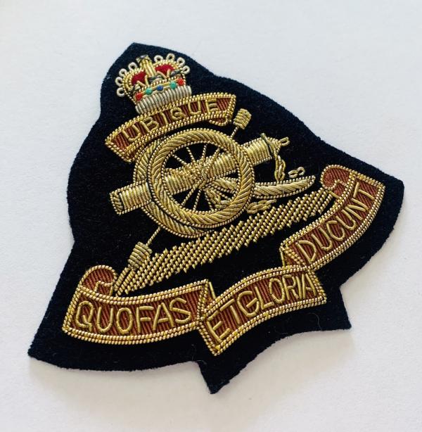 The Royal Artillery Blazer Badge, Gold Badge, Cap Badge,Blazer, badge, Cap, Cap Badge, Blazer Badge, Vintage badge, military, military badge, military button