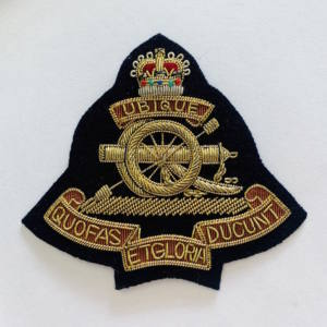 The Royal Artillery Blazer Badge, Gold Badge, Cap Badge,Blazer, badge, Cap, Cap Badge, Blazer Badge, Vintage badge, military, military badge, military button
