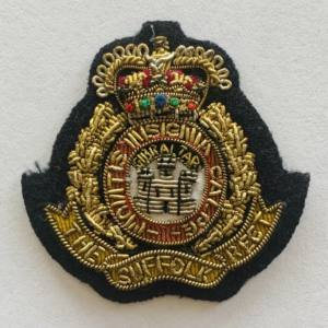 The Suffolk Regiment Cap Badge, Cap, Gold, Gold Badge, Cap Badge,Blazer, badge, Cap, Cap Badge, Blazer Badge, Vintage badge, military, military badge, military button