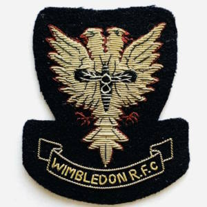 Wimbledon Rugby Football Club blazer badge, badge, Blazer Badge, Vintage badge, military, military badge, military button
