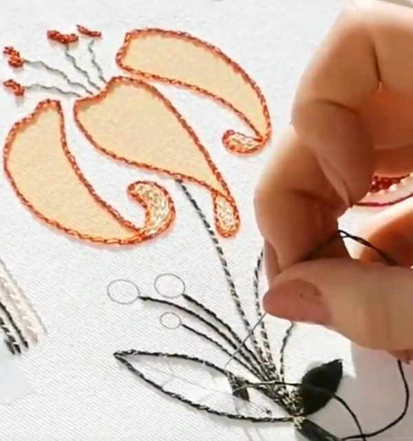 embroidery, introduction to embroidery, beginners, sewing, textiles, online class, kit