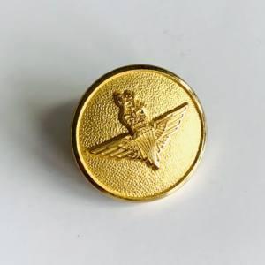 Button, RAF Parachute Regt Buttons, Gold Button, Military, Military Button, Military Badge, Vintage, Embellishments, Accessories