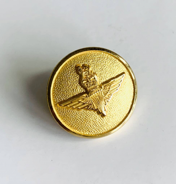 Button, RAF Parachute Regt Buttons, Gold Button, Military, Military Button, Military Badge, Vintage, Embellishments, Accessories