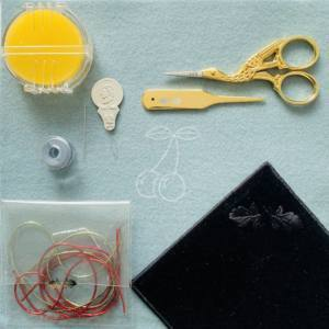 goldwork, gold work, online class, equipment, introduction, product development, goldwork cherry, scissors, goldwork kit, embroidery, textiles,