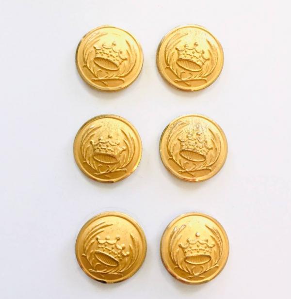 Button, Crown & Lion Button, Gold Button, Military, Military Button, Military Badge, Vintage, Embellishments, Accessories
