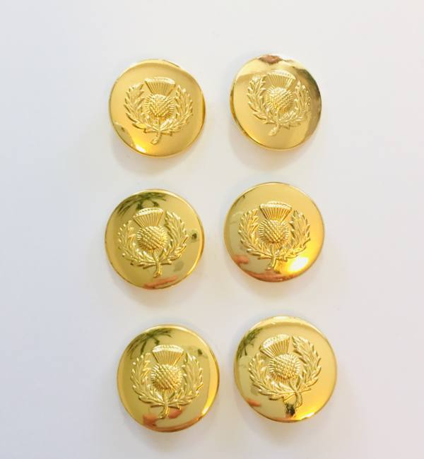 Button, Thistle Button, Gold Button, Military, Military Button, Military Badge, Vintage, Embellishments, Accessories