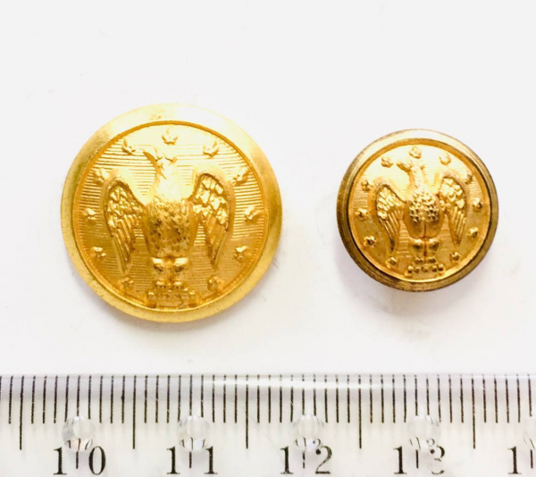 Button, Eagle Button, Gold Button, Military, Military Button, Military Badge, Vintage, Embellishments, Accessories