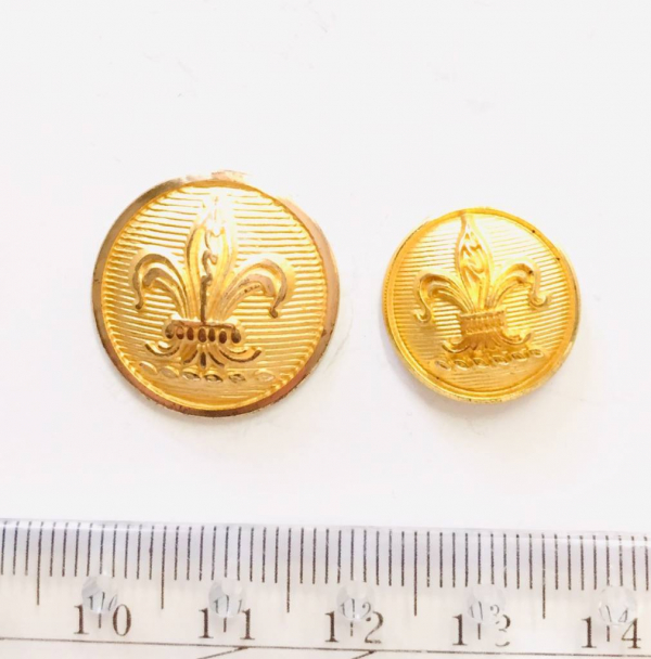 Button, Scout Button, Gold Button, Military, Military Button, Military Badge, Vintage, Embellishments, Accessories