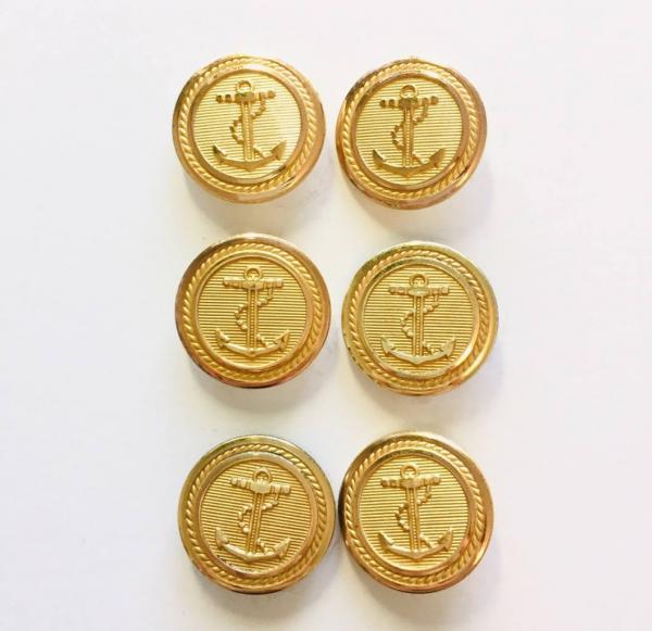 Button, Anchor Button, Gold Button, Military, Military Button, Military Badge, Vintage, Embellishments, Anchor