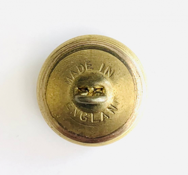 Button, Staffordshire Regt, Gold Button, Military, Military Button, Military Badge, Vintage, Embellishments, Accessories