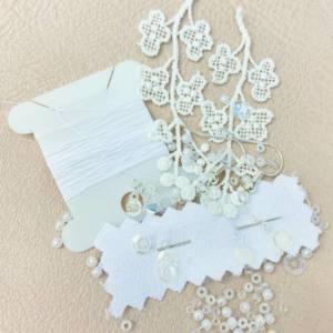 lace, beads, jewellery, earrings, thread, online class, kit, product development,