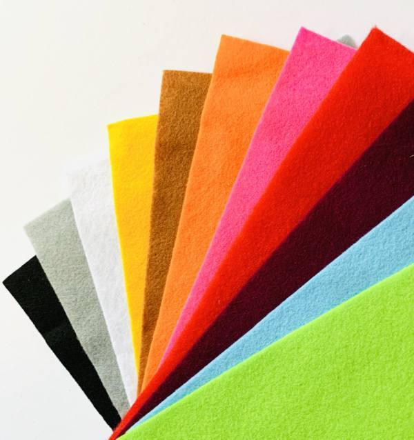 felt, fabric, colourful fabric, textiles, materials, equipment