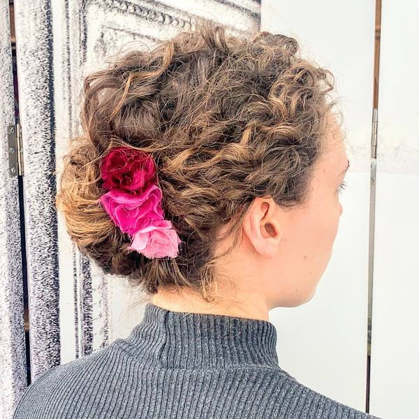 rose barrette, hair flower accessories, hair flowers, fabric flowers, red flowers, pink flowers, barrette, fabric roses, outcome product