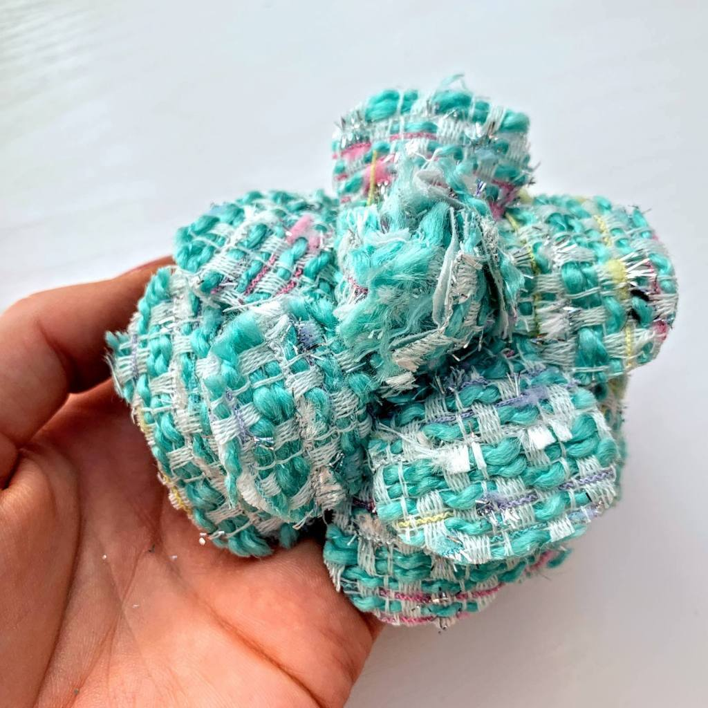 fabric flower, flower, product outcome, tweed, green flower, camellia, online class, fabric manipulation, equipment, rose, peony