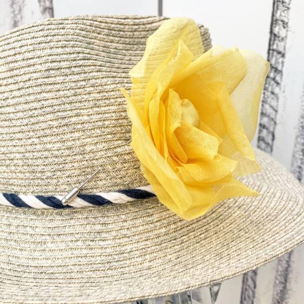 fabric flowers, yellow flowers, bar pin flowers, barrette, fabric rose, outcome product, stitched flowers