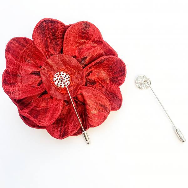 long bar pin flower, rose flower, fabric rose flower, velvet flowers, flower pins, outcome products, accessories, fabric manipulation flowers, red flowers, rose,