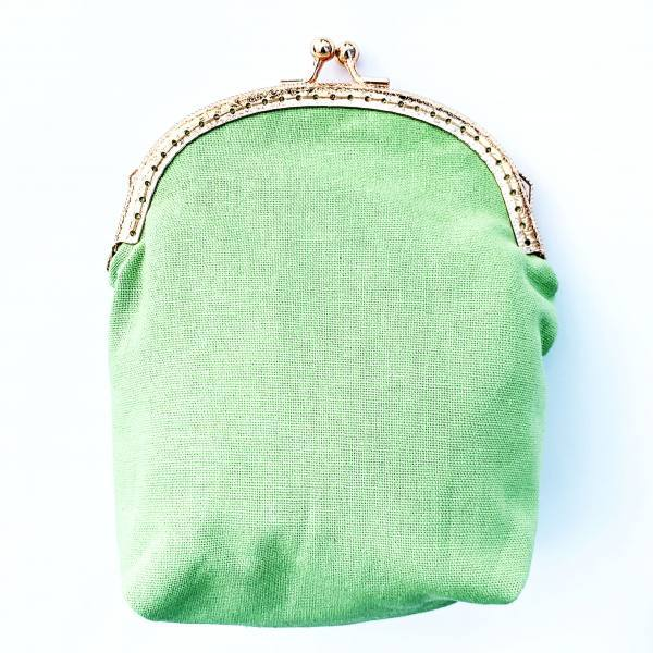 Bag, bag clasp, small bag, pear, clasp, green bag, product outcome, final outcome,